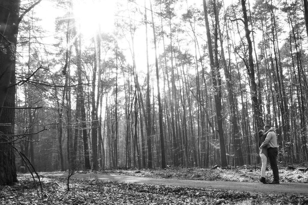 zu Zweit im Wald